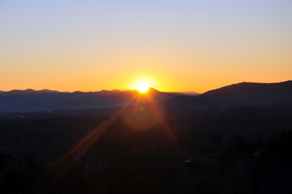 sunset in NC mountains 2
